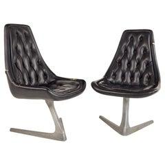 Chromcraft Sculpta Mid Century Star Trek Chairs, Pair