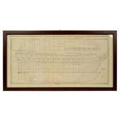 Old Nautical Print by Engraving on Copper Plate from the Panckoucke Encyclopédie