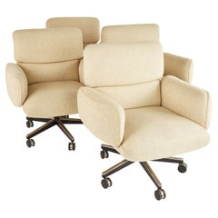 Otto Zapf for Knoll Mid Century Upholstered Office Chairs, Set of 4