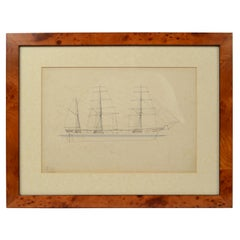 Print No. 1 of 400 Depicting a Nautical Schooner Made in the Mid-19th Century