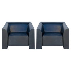 Pair of Mb1 Arm Chairs by Mario Bellini for Heller