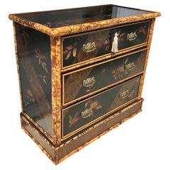 Edwardian English Bamboo Lacquered Dresser