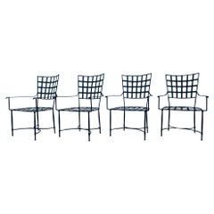 Set of 4 Patio Armchairs in the Salterini Style