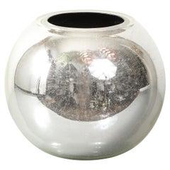 Large Round Mirrored Galaxy Vase