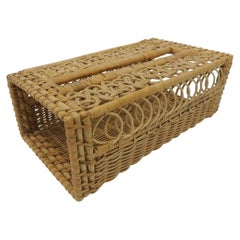 Vintage Laced Style Woven Wicker Tissue Holder