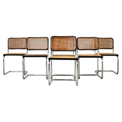 Black Dinning Style Chairs B32 by Marcel Breuer Set 6