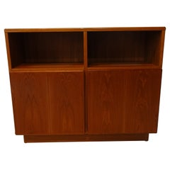 Danish Teak Wood Slim Storage Cabinet