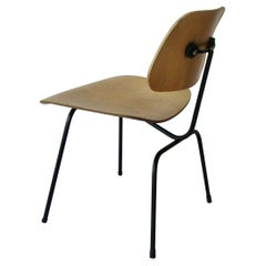 Charles and Ray Eames Metal Leg Dining Chair DCM for Herman Miller