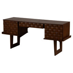"Paul Laszlo ""Basket Weave"" Desk for Brown Saltman"