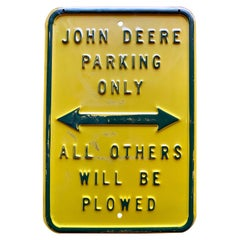 Vintage Original John Deere Sign
