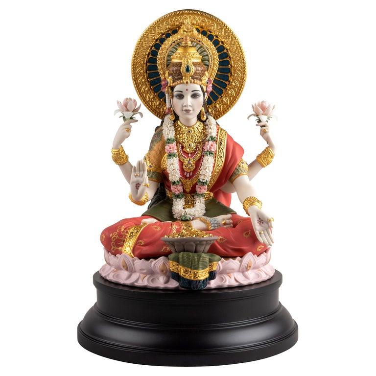 Goddess Lakshmi Sculpture, Limited Edition For Sale