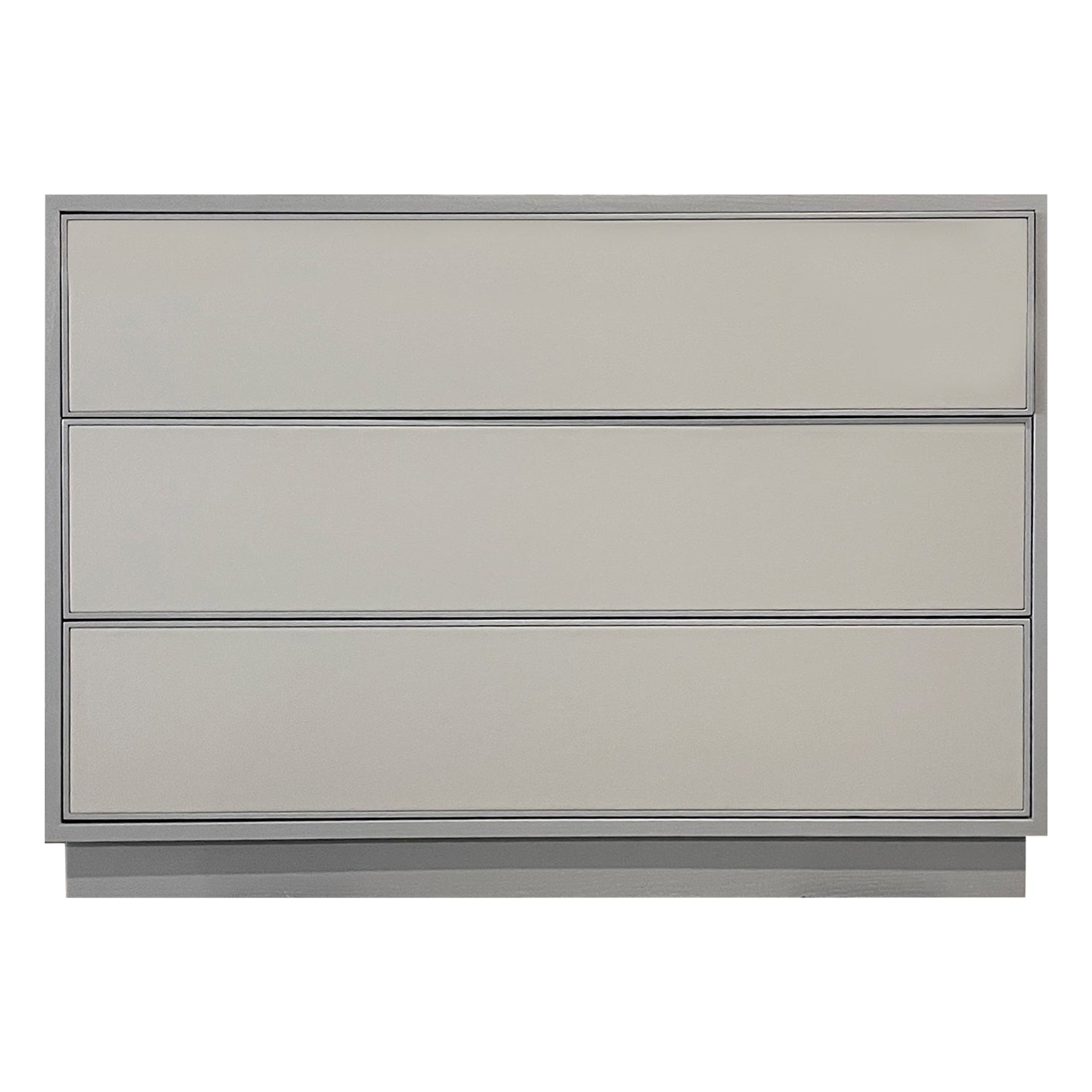 Custom Leather Chest of 3 Drawers by Ercole Home