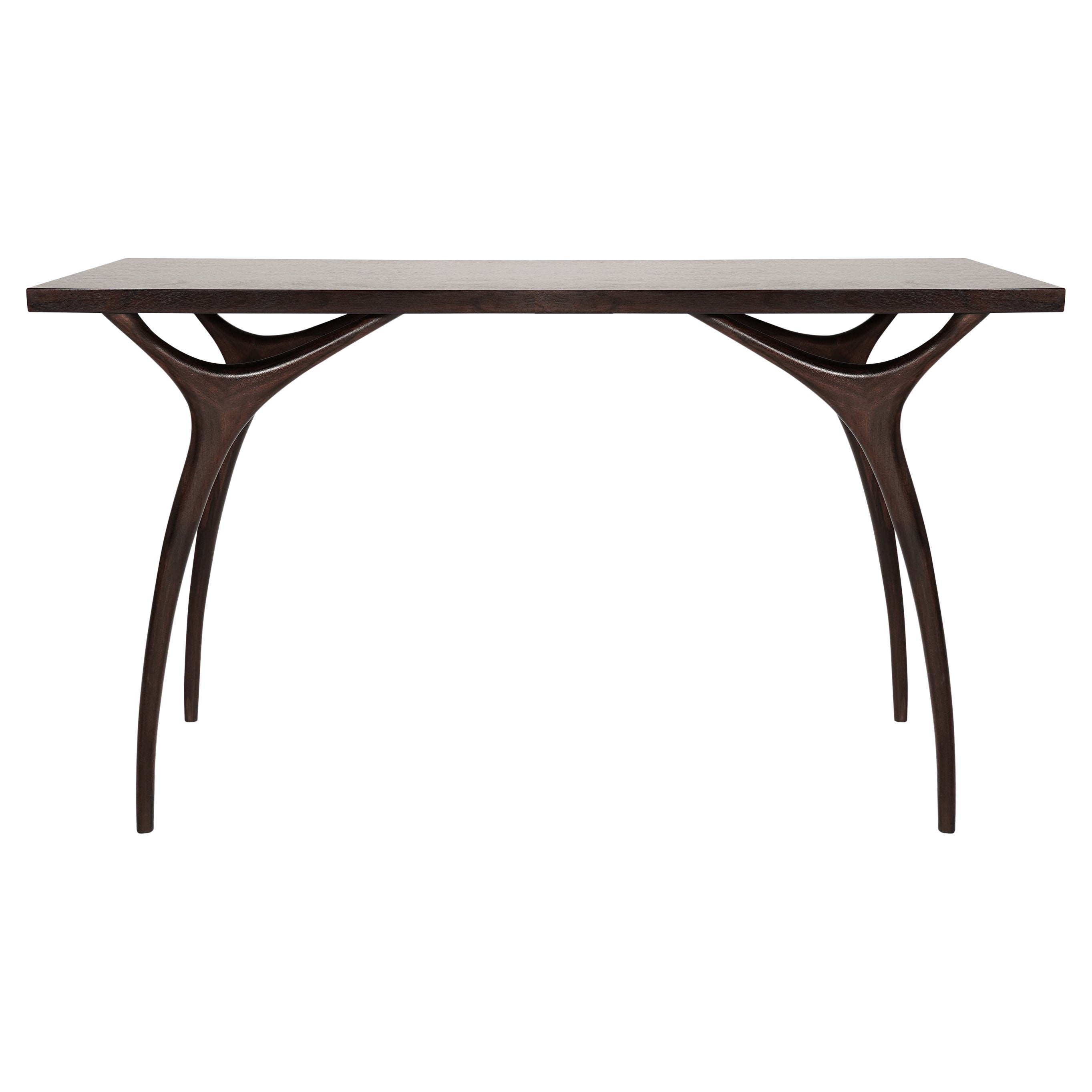 Stamford Modern's Crescent Console Table in Mahogany