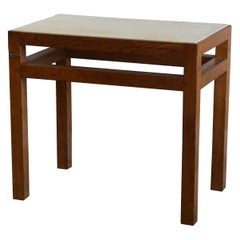 Chic Oak and Parchment 'Tenon' Side Table or Night Stand by Design Frères