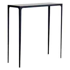 'Esquisse' Wrought Iron and Parchment Console by Design Frères