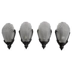 Rare Set of Four Art Deco Sconces