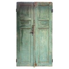 Pair of Vintage Green Doors