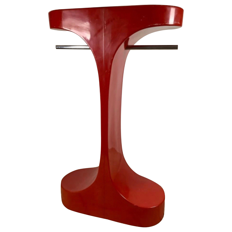 Pop & Design Coat Hanger in Plastic Red, 1960 France, Mid-Century Design Vintage