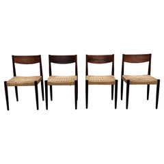 Poul Volther for Frem Rojle Dining Chairs in Rosewood and Danish Cord, set of 4