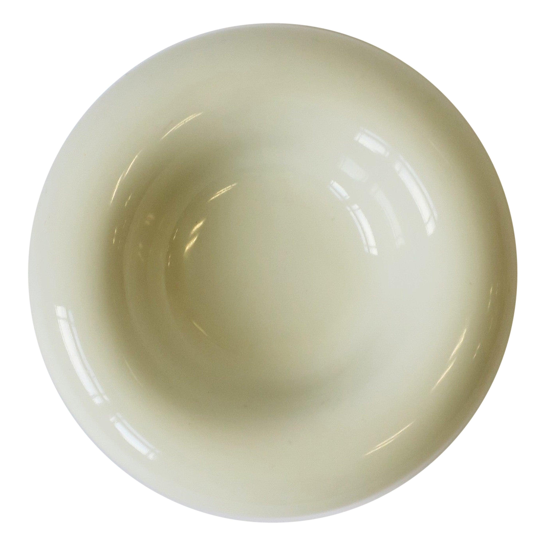 Postmodern Stone White Ceramic Bowl, ca. 1980s