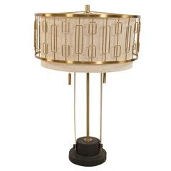 Contemporary Gold Metal Geometric Design Table Lamp
