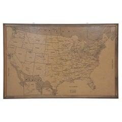 Vintage Framed United States Map