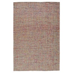Hand Knotted Multicolored Area Rug