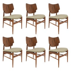 Set of 6 Mid-Century Scandinavian Teak Dining Chairs