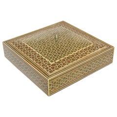 Moorish Sadeli Micro Mosaic Inlaid Jewelry Box