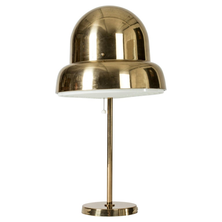 Brass Table Lamp from Bergboms, Sweden, 1960s For Sale
