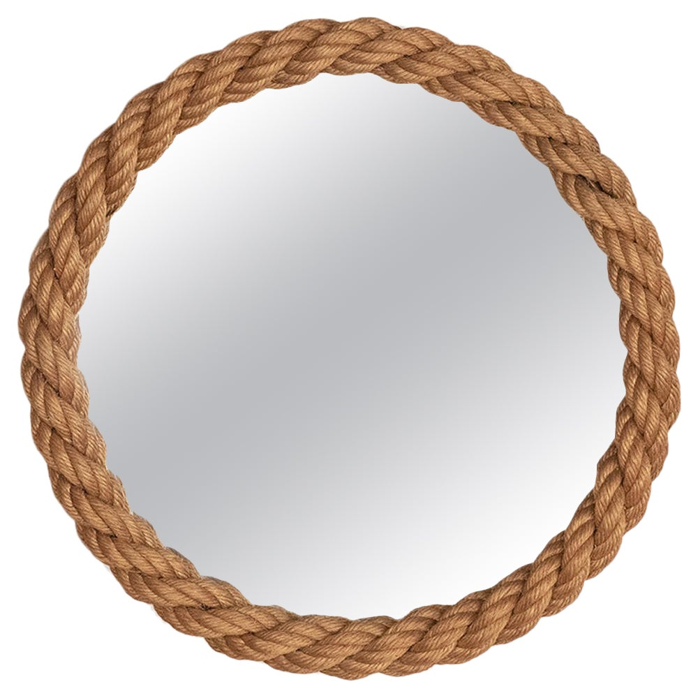 French Rope Mirror by Audoux-Minet