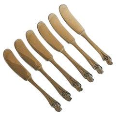 Sterling Silver Set of 6 Pcs Butter Knifes