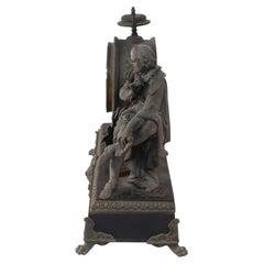 English Victorian Ansonia Clock Company Bronze Shakespeare Mantel Clock