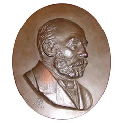 Johannes Hansen Portrait in Bronze from L. Rasmussen Bronce/Bronze Foundry