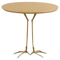 Meret Oppenheim Mid-Century Gilt Metal Bird Foot End Table