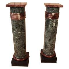 Pair of Nineteenth Marble Columns