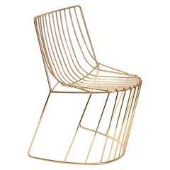 Amarone Aureo Contemporary Light Gold Shiny Chair Made in Italy by LapiegaWD