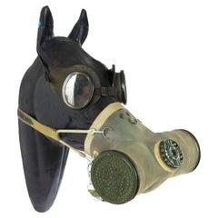 WWI Model of Horse Head Wearing Gas Mask