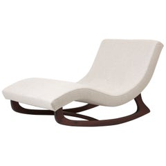 Newly Upholstered Adrian Pearsall Rocking Chaise in Dedar Fabric, USA, 1950s