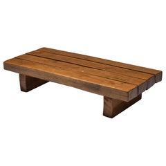 Rustic Wabi-Sabi Solid Wood Coffee Table