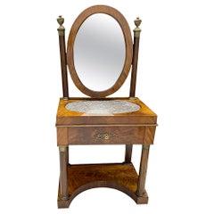 Dutch Empire Mahogany Dressing Table, ca. 1840
