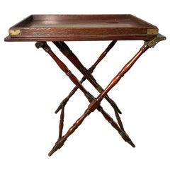 Very Rare Campaign Butlers Table and Tray circa 1820