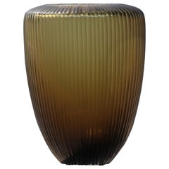 21st Century by Micheluzzi Glass Goccia Green Vase Handmade Murano Glass