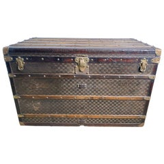 Large-Sized Antique 19th Century Louis Vuitton Steamer Trunk