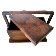 Chinese Huanghuali Stacked Wood Box