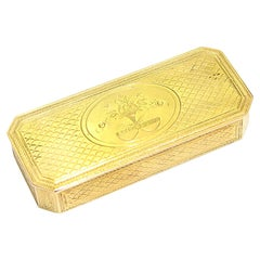 Antique French 18kt Yellow Gold Box