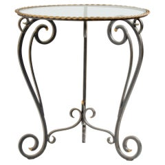 Midcentury French Iron Forged Side Table