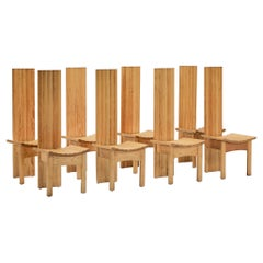 Wooden High Back Dining Chairs