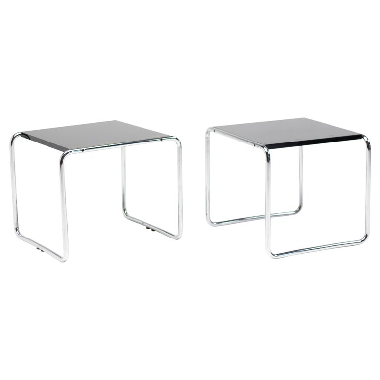 Early Marcel Breuer Side Tables by Gavina, Italy For Sale