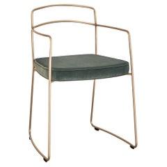 Seidecimi Aureo Contemporary Minimalist Brass Chair Made in Italy by LapiegaWD